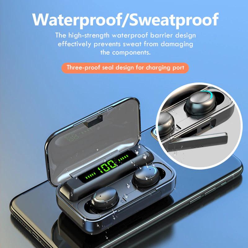 TWS Bluetooth 5.0 Earphones waterproof