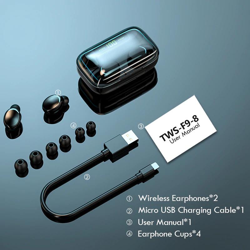 TWS Bluetooth 5.0 Earphones USB cable