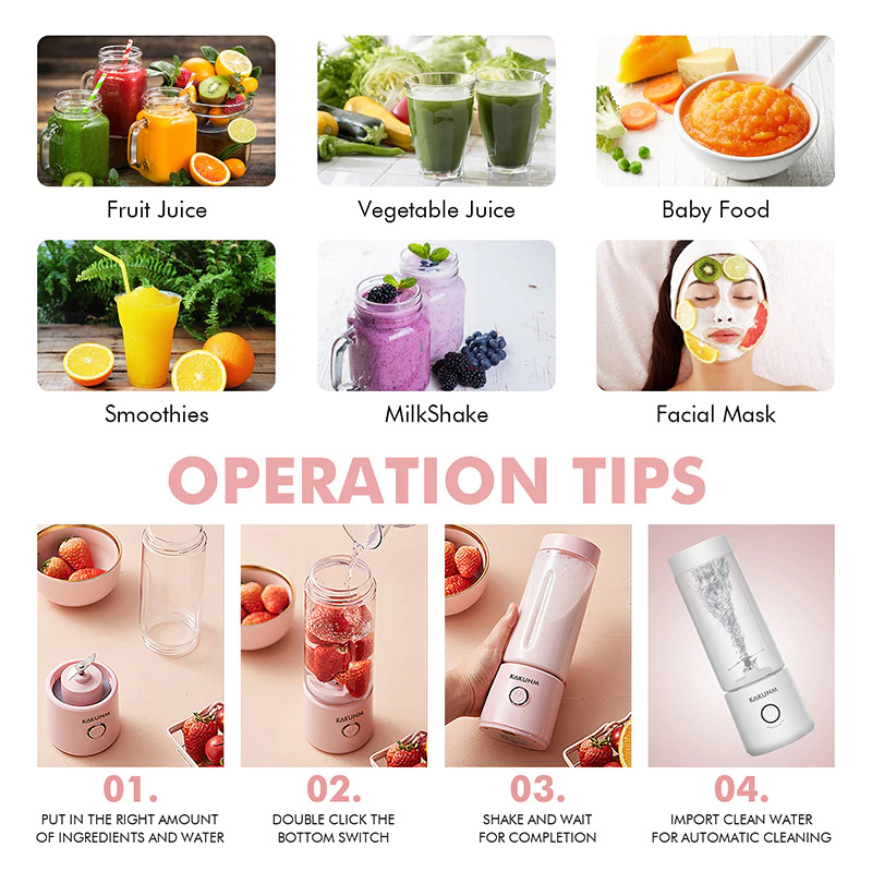 mini portable juicer tips